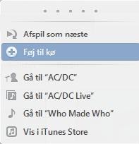 Tiføj sange til en spillelistes kø i iTunes