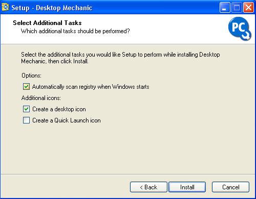Wählen Sie Registry beim Start von Windows automatisch scannen aus