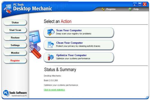 Desktop Mechanic Hauptmenü