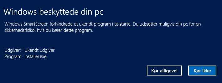 False-Positive fra Windows 8