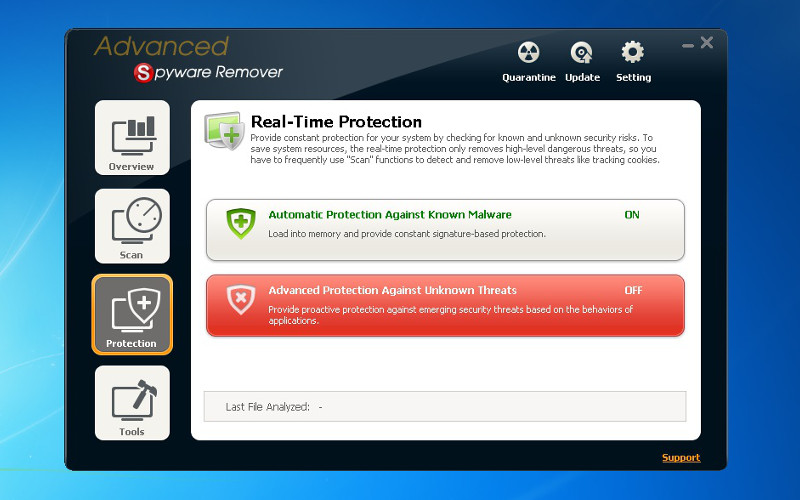 Screenshot af Advanced Spyware Remover Free