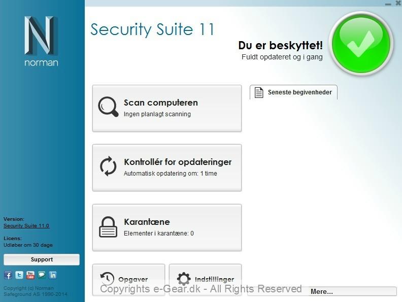 Screenshot af Norman Antivirus