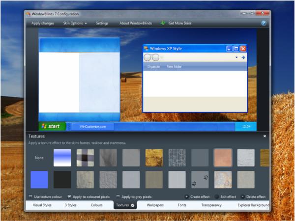 Screenshot af WindowBlinds