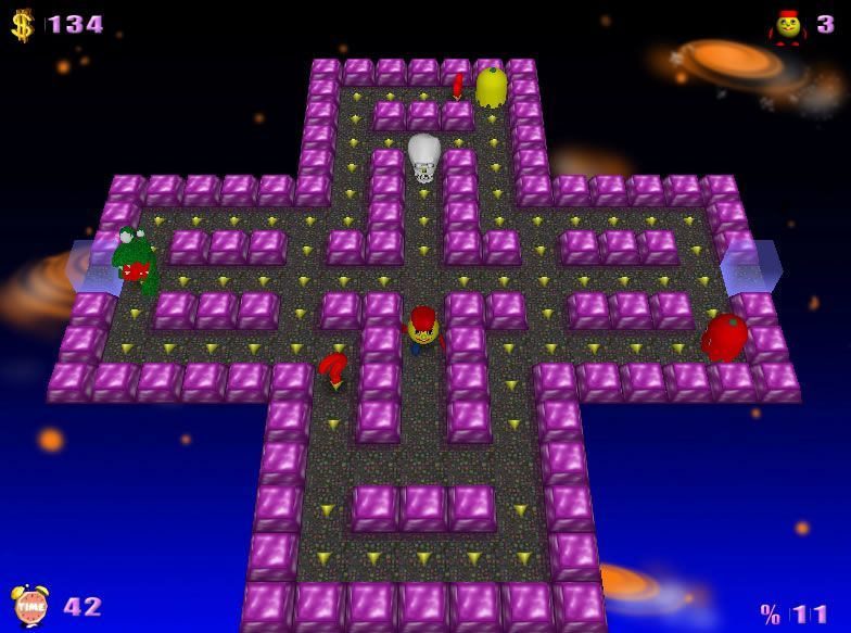 Screenshot af PacMan Adventures 3D