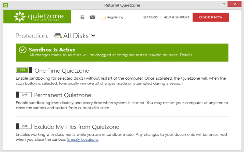 Screenshot af Quietzone™ Ultimate Privacy