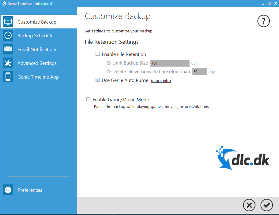 Screenshot af Genie Backup Manager Home Edition