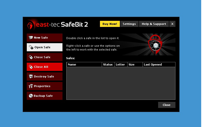 Screenshot af SafeBit