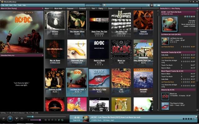 Screenshot af MediaMonkey