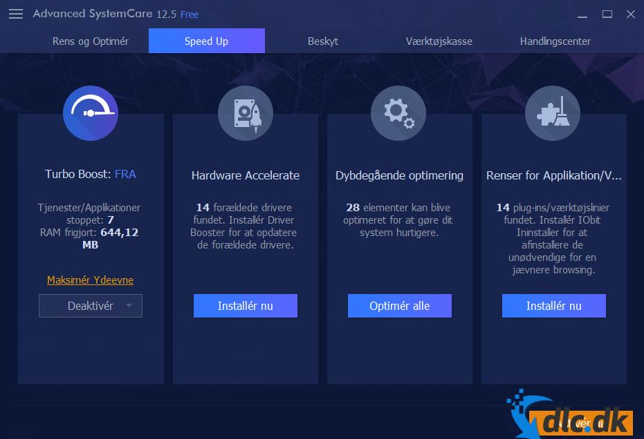 Screenshot af Advanced SystemCare PRO