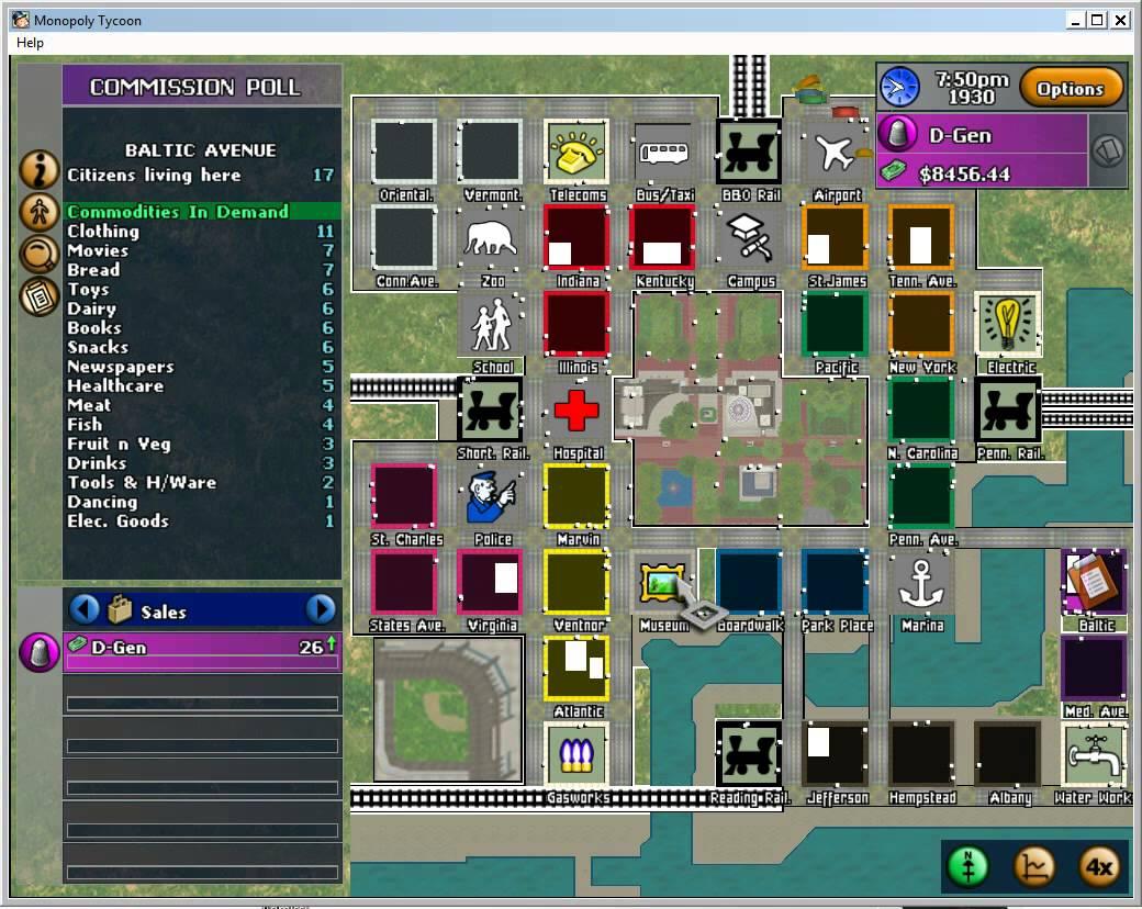 Screenshot af Monopoly Tycoon