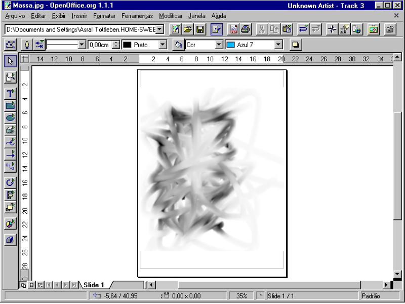 Screenshot af OpenOffice Draw