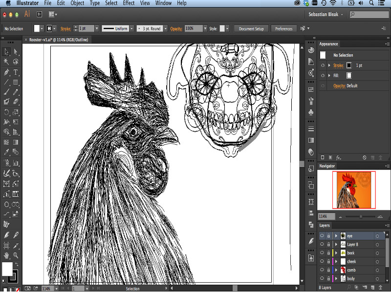 Screenshot af Adobe Illustrator