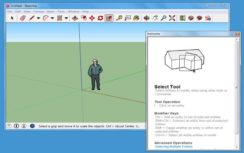 Screenshot af Google SketchUp
