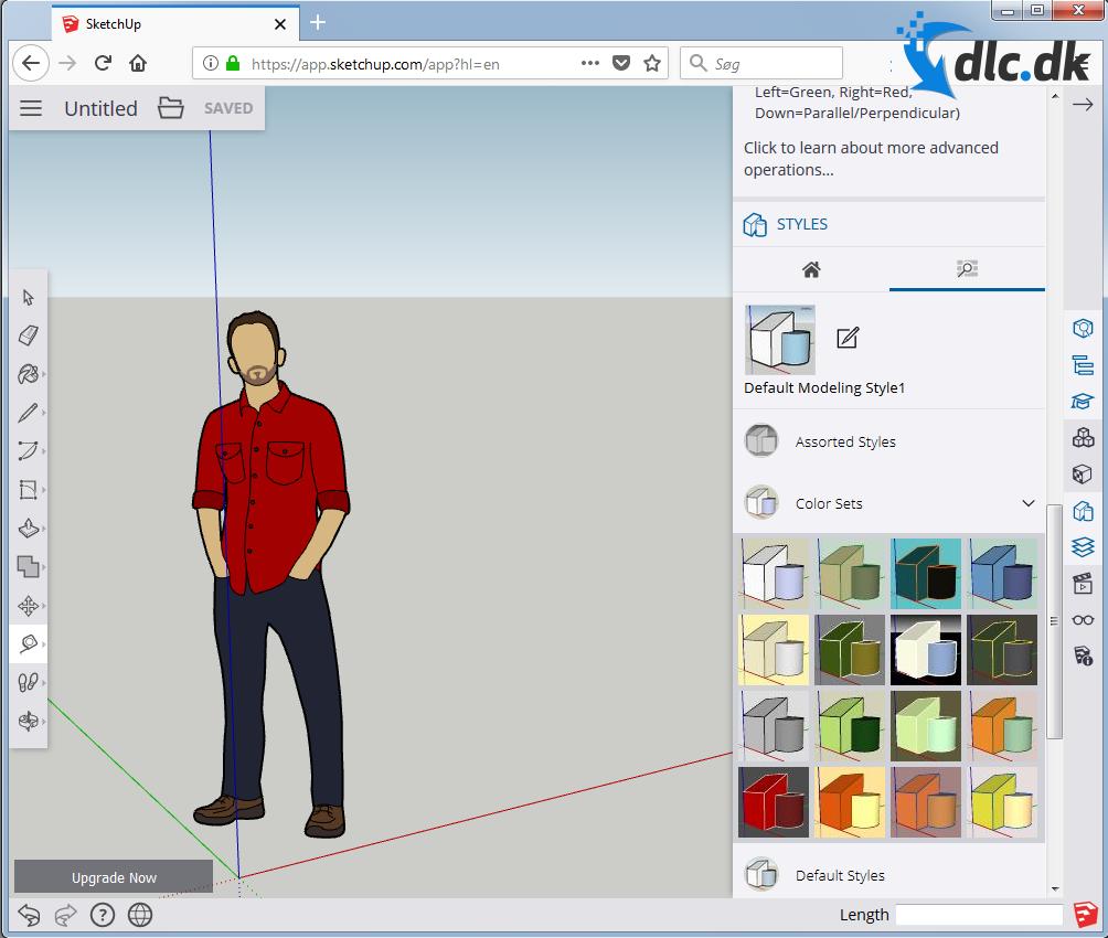 Screenshot af SketchUp