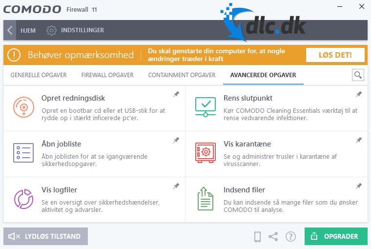 Screenshot af Comodo Firewall
