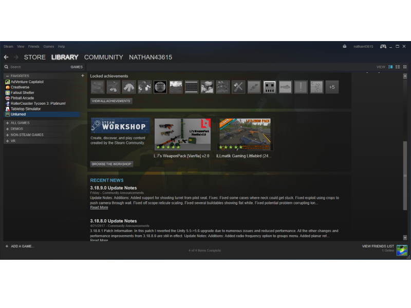Screenshot af Steam Client