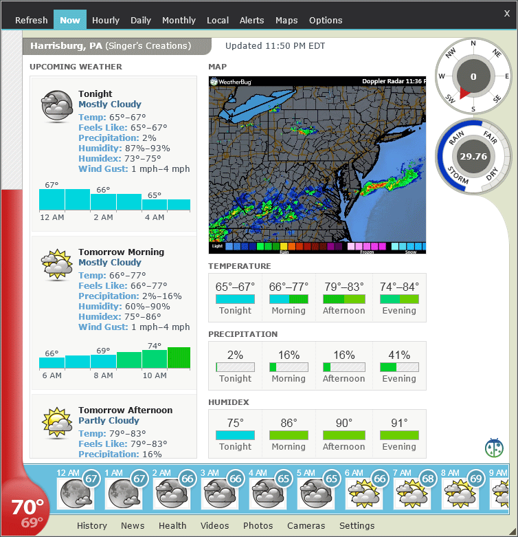 Screenshot af Weather Watcher