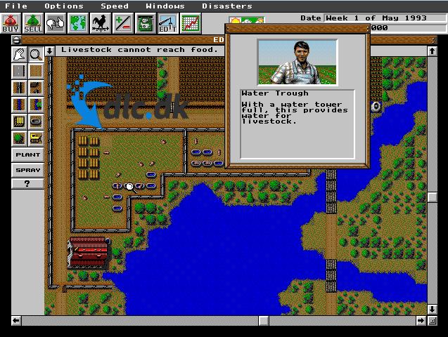 Screenshot af SimFarm