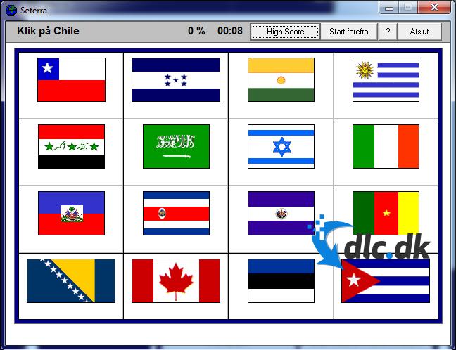 Screenshot af Seterra