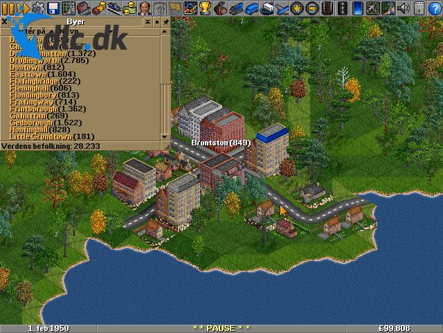 Screenshot af Open Transport Tycoon Deluxe (Dansk)