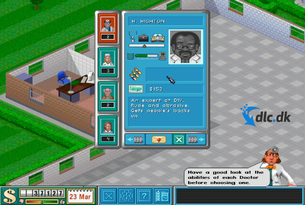 Screenshot af Theme Hospital