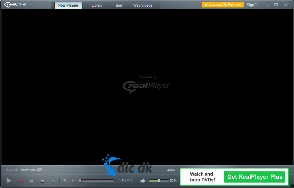 Screenshot af RealPlayer