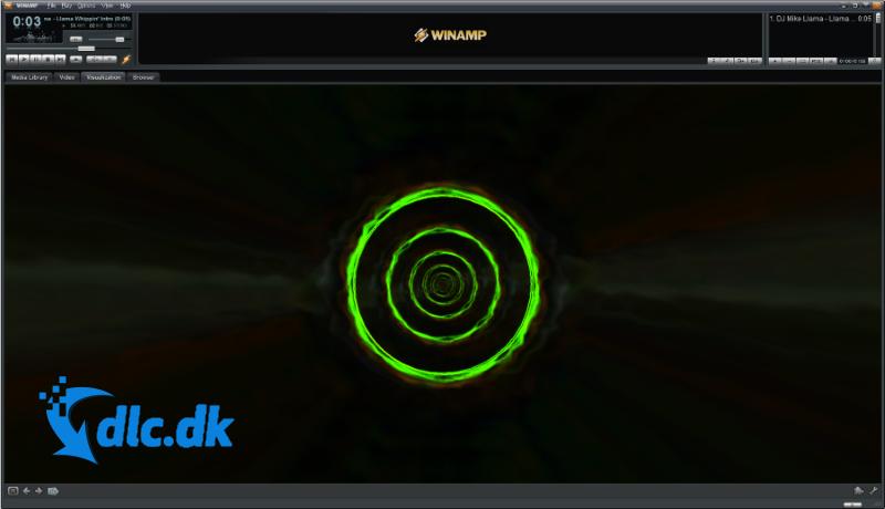 Screenshot af Winamp