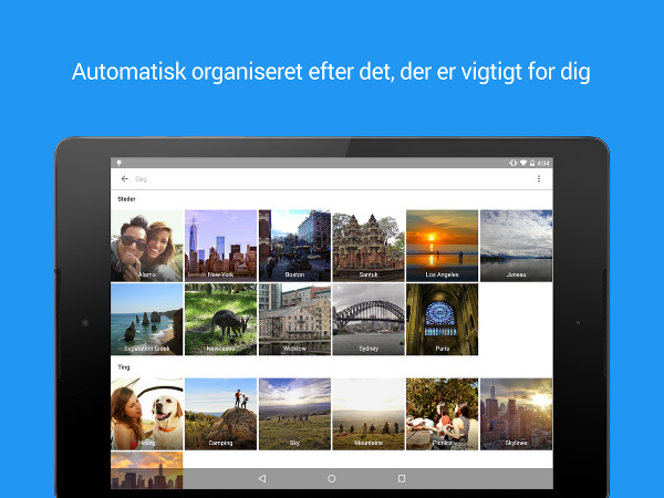 Screenshot af Google Fotos (tidligere Picasa)