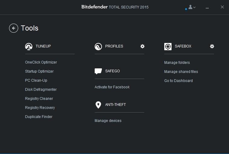 Screenshot af BitDefender Total Security