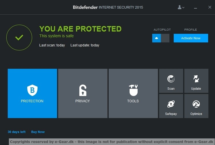 Screenshot af BitDefender Internet Security