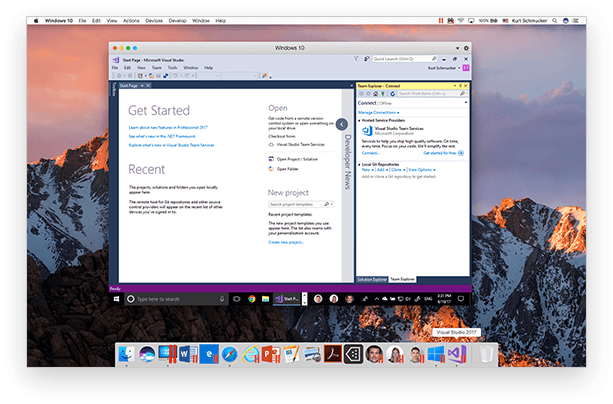 Screenshot af Parallels Desktop for Mac