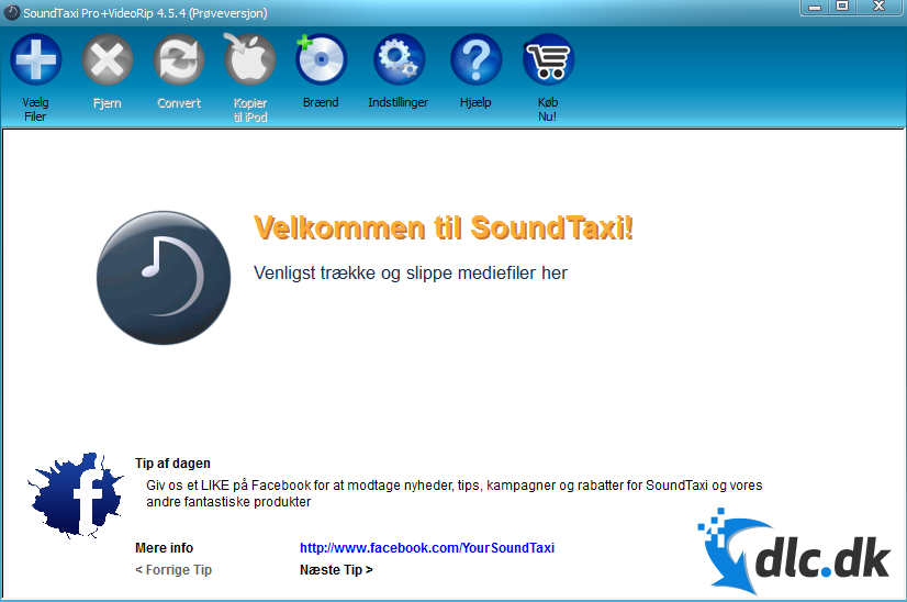 Screenshot af SoundTaxi Pro+Video Rip (Dansk)