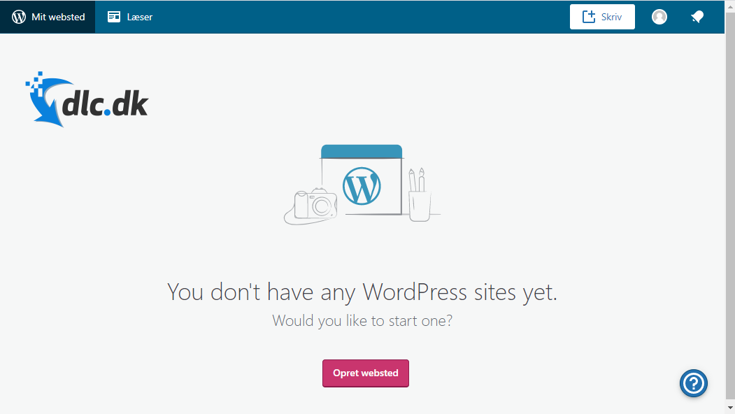 Screenshot af WordPress