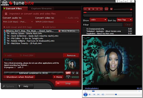Screenshot af Tunebite Platinum