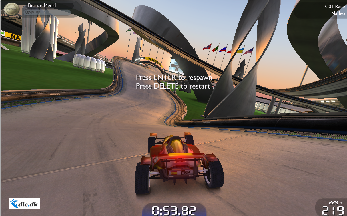 Screenshot af TrackMania Nations Forever