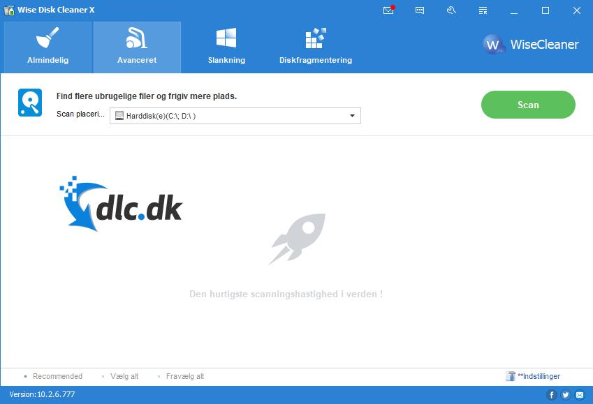 Screenshot af Wise Disk Cleaner