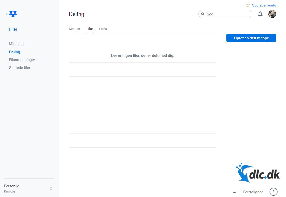 Screenshot af Dropbox