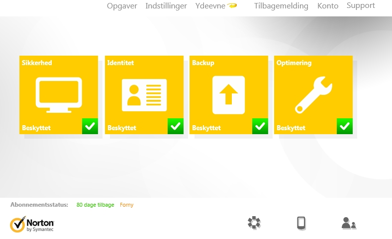 Screenshot af Norton AntiVirus