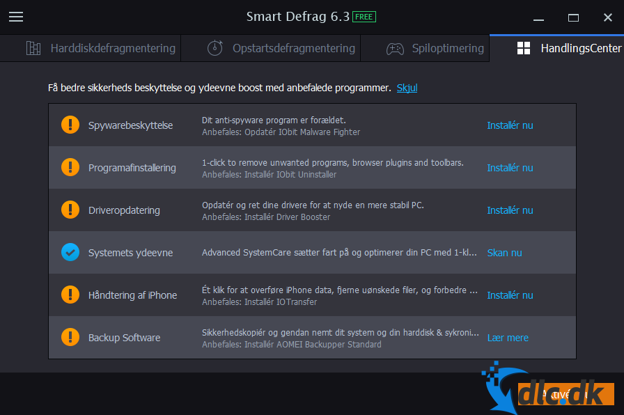 Screenshot af Smart Defrag