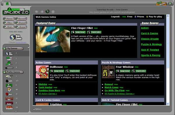 Screenshot af GameSpy