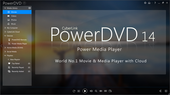 Screenshot af CyberLink PowerDVD