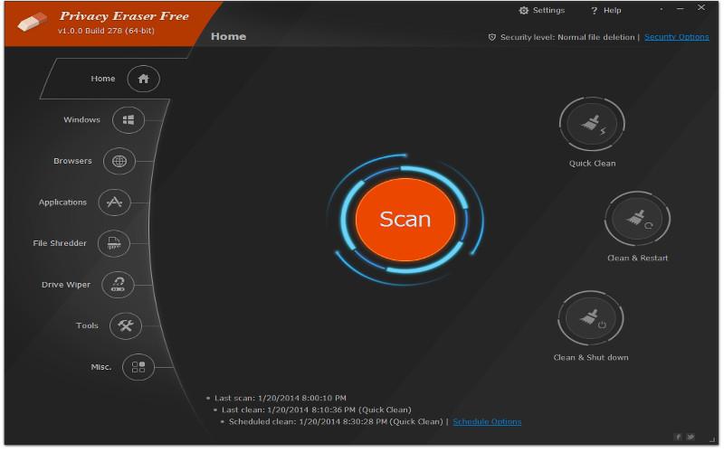 Screenshot af Privacy Eraser Pro