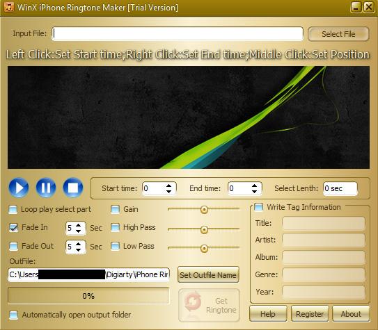 Screenshot af iPhone Ringtone Maker Pro