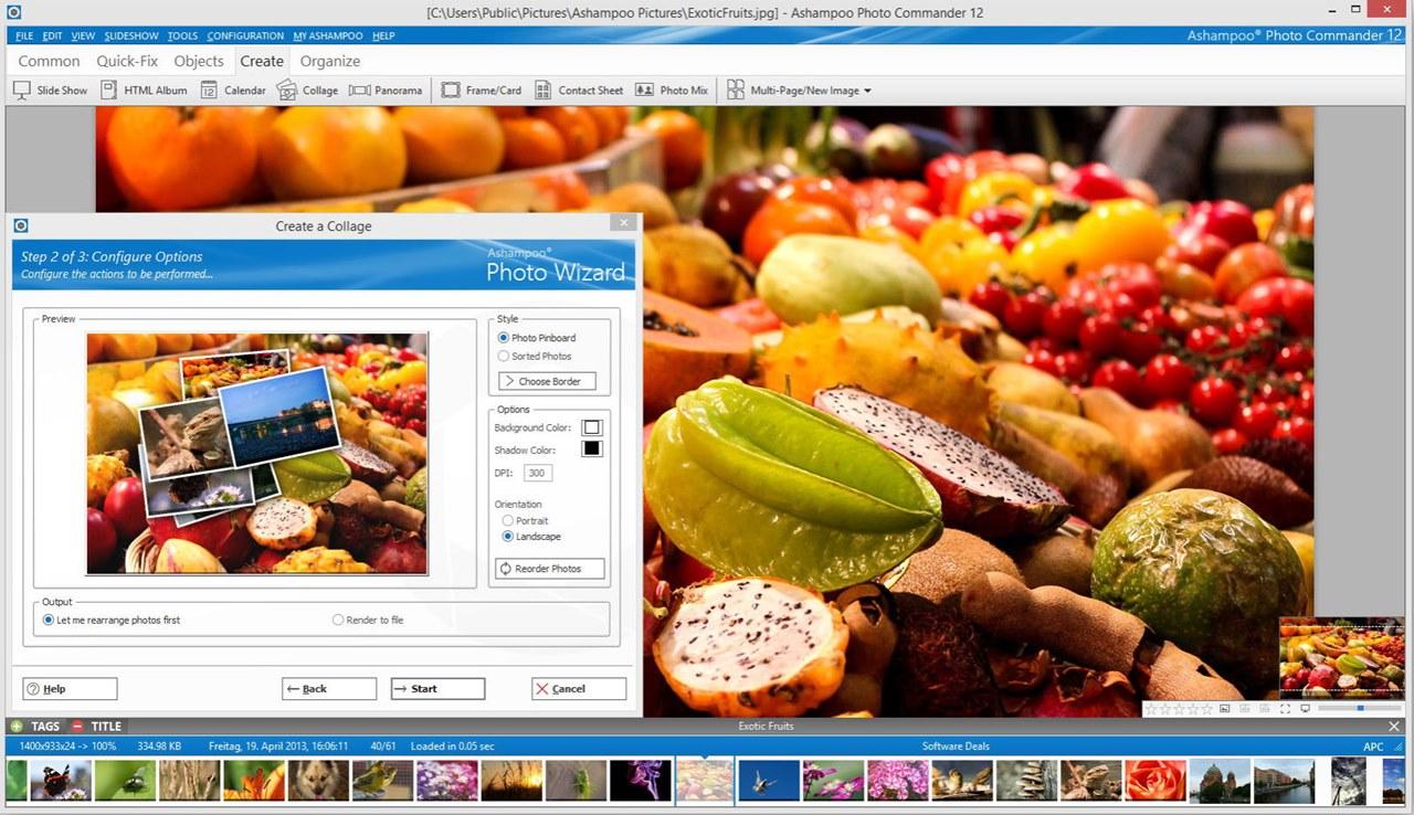 Screenshot af Ashampoo Photo Commander