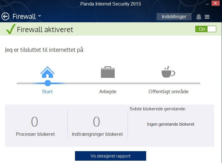 Screenshot af Panda Internet Security