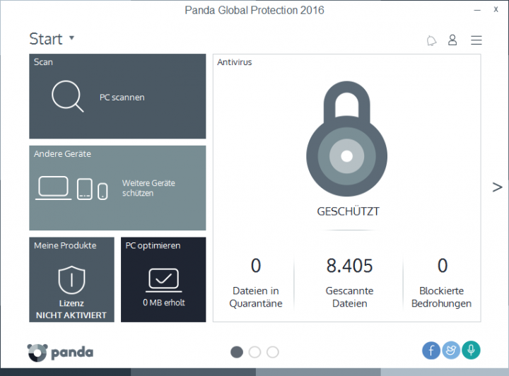 Screenshot af Panda  Global Protection