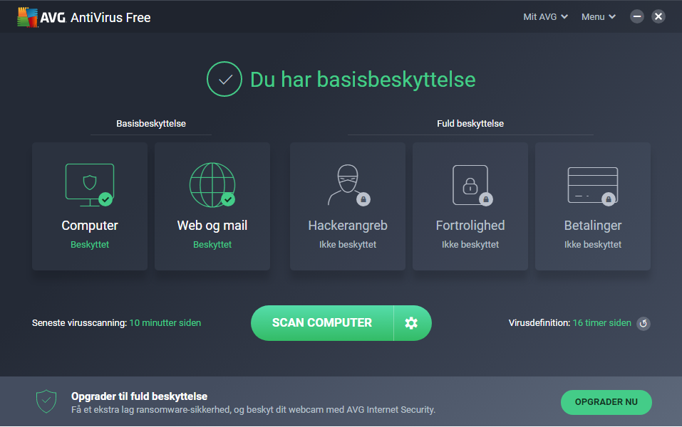 Screenshot af AVG Anti-Virus