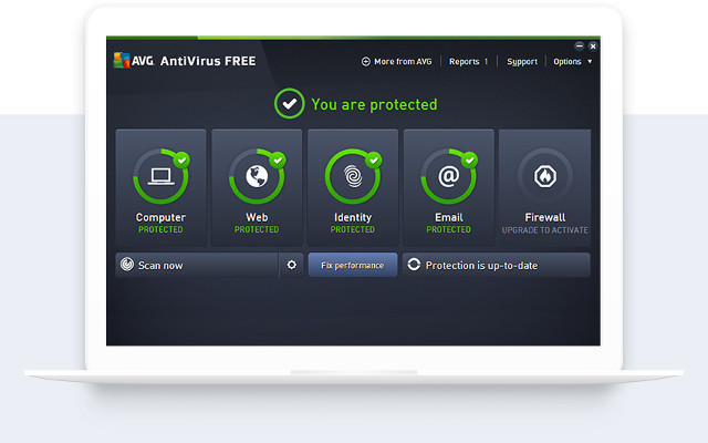 Screenshot af AVG Anti-Virus Free