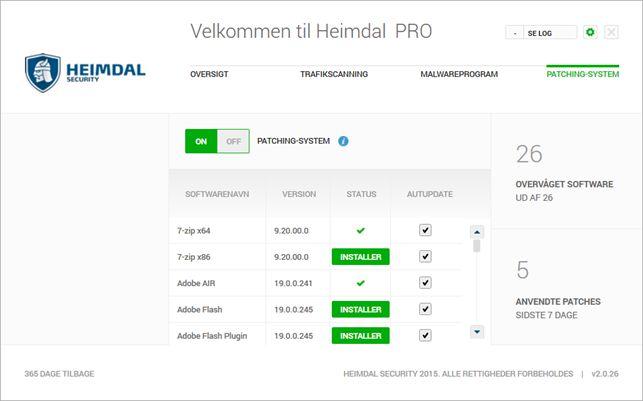 Screenshot af Heimdal