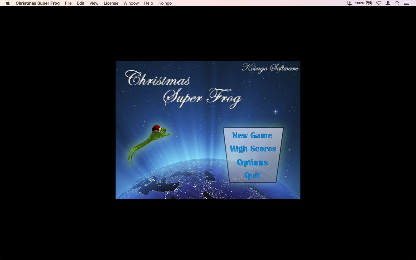 Screenshot af Christmas Super Frog for Windows